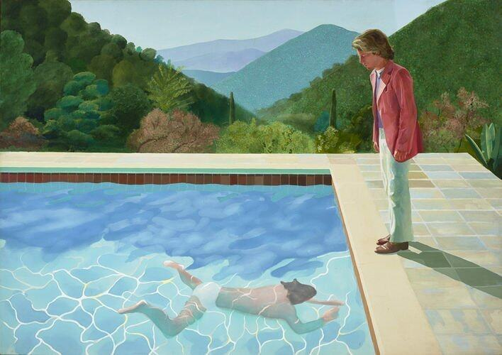 David Hockney Portrait of an Artist (Pool with Two Figures), 1971