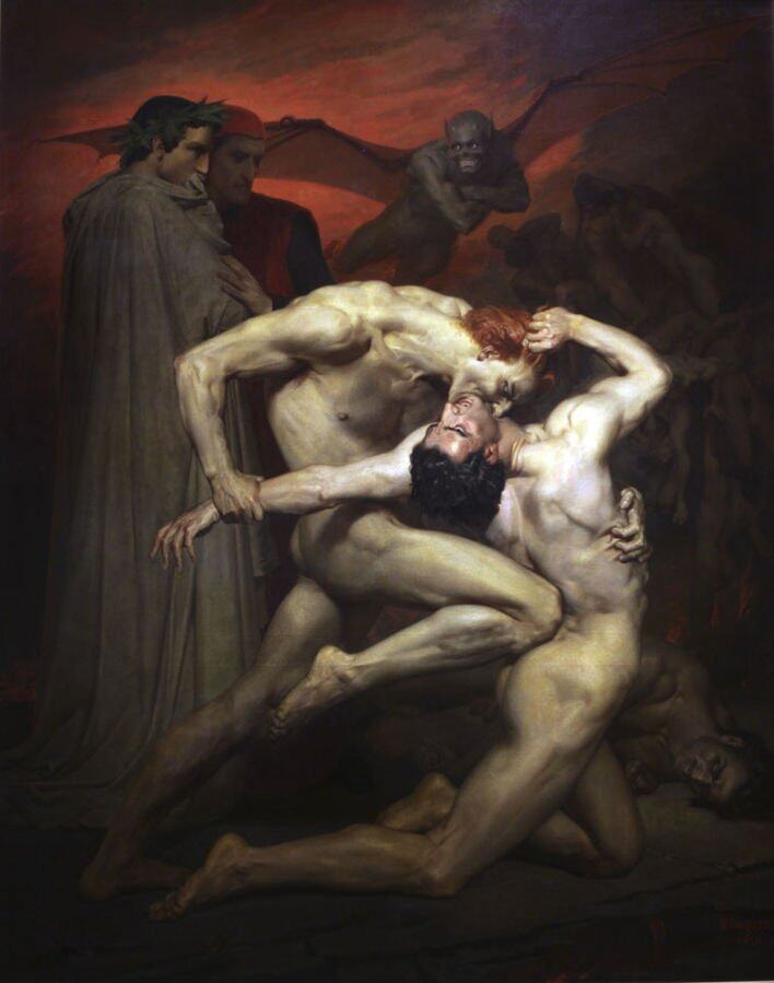 《Dante and Virgil》William-Adolphe Bouguereau