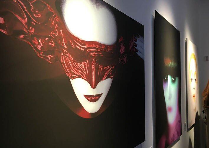 Dior, Art of Color 展覽中展出的 Serge Lutens 作品