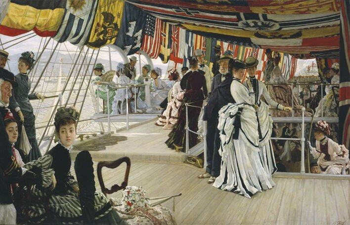 James Tissot(1836-1902)The Ball on Shipboard