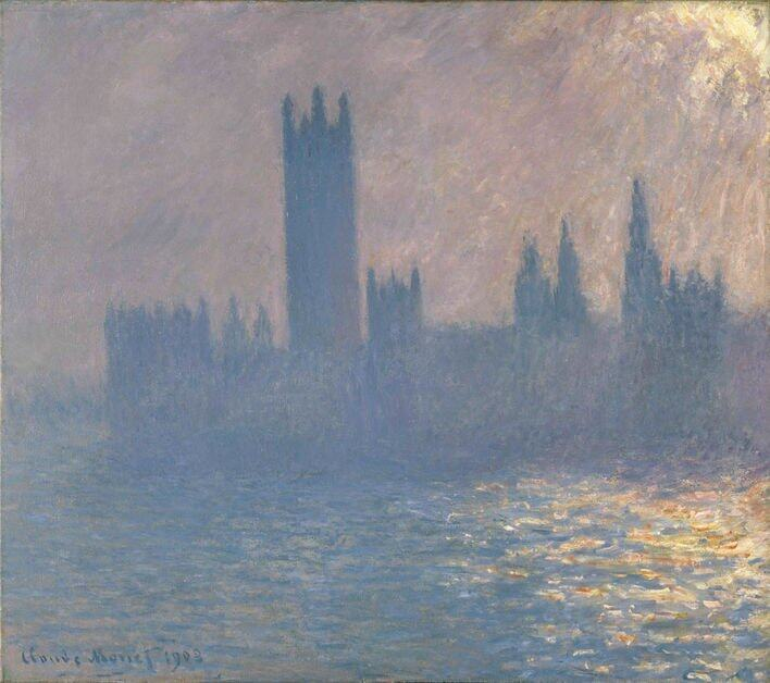 Houses of Parliament, sunlight effect Claude Monet(1840-1926)Houses of Parliament, Sunlight Effect