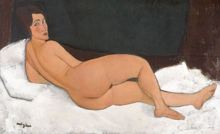Nude 1917 Oil paint on canvas 890 x 1460 mm Private Collection