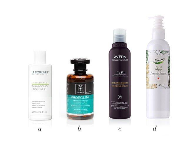 <p>a) La Biosthetique Lipokerine A潔淨控油洗髮露  $300/250mlb) Apivita Balancing Shampoo For Oily Hair  with rosemary &amp; propolis  $160/250mlc) AVEDA InvatiTM Exfoliating Shampoo  $310/200ml D) Nabelle Organic Peppermint Shampoo  $305/240ml</p>