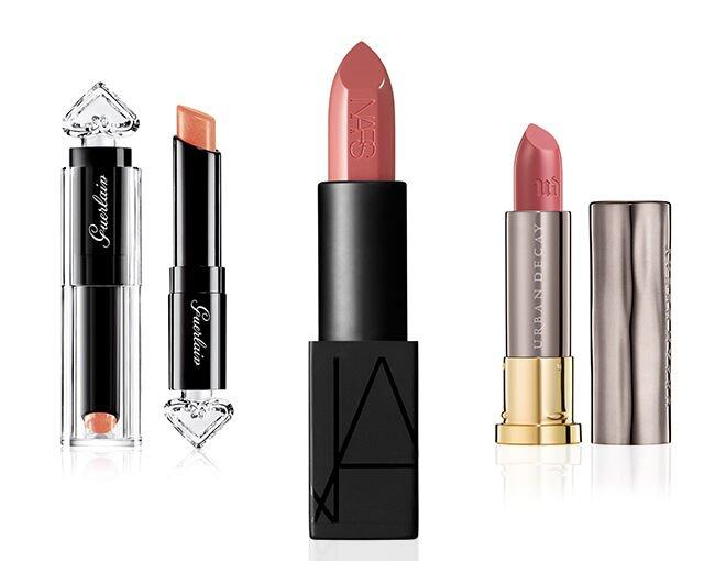 <p> NARS Audacious Collection Apoline Audacious Lipstick (#Apoline) $270<br /> Guerlain La Petite Robe Noire Deliciously Shiny Lip Colour (#014) $240<br />Urban Decay Vice Lipstick Cream Naked $150</p><p> </p>