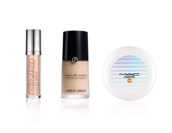 <p> Naked Skin Weightless Ultra Definition Liquid Makeup $340<br /> Giorgio Armani Luminous Silk Foundation $510<br /> M.A.C Cushion foundation, Lightful C SPF50/PA++++ $335<br />AmorePacific Anti-Aging Color Control Cushion SPF50+/PA+++ $540 / 15g x 2</p>