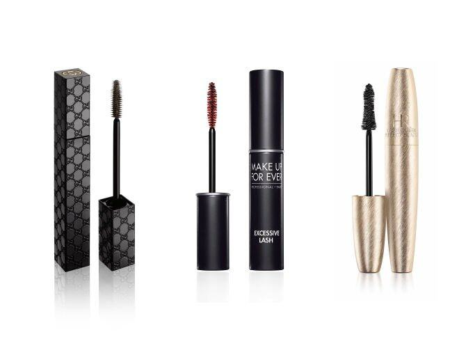 <p> Gucci Eye Opulent Volume Mascara (#020 Cocoa) $320<br /> Make Up For Ever Excessive Lash $260<br />Helena Rubinstein LASH QUEEN Perfect Blacks Waterproof $330 / 7ml</p>