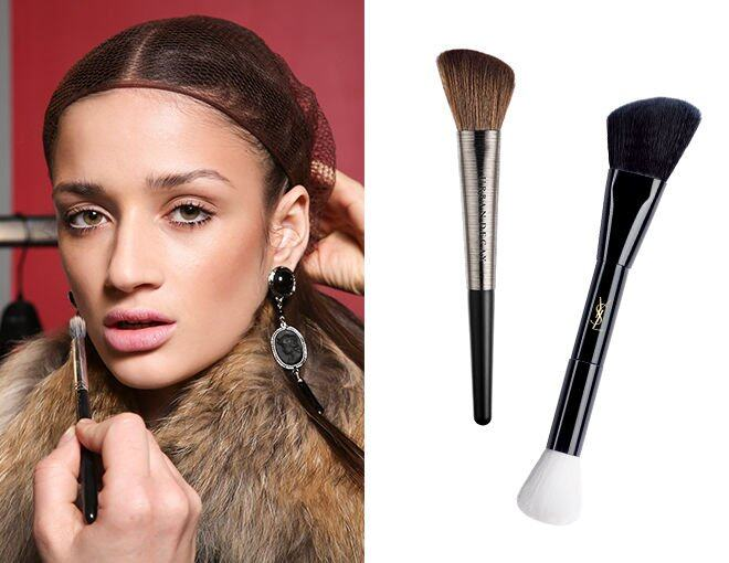 <p> Urban Decay Pro Brushes Diffusing Blush Brush $280<br />YSL Double-ended Brush $585</p>