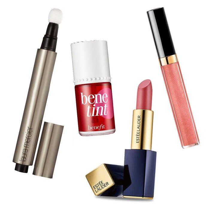 Laura Mercier Candle Glow Concealer and Highlighter $280 Benefit Benetint Rose-tinted Cheek & Lip Stain $295 Estée Lauder Pure Color Envy Hi-Lustre Light Sculpting Lipstick $280 Chanel Rouge Coco Gloss (#744) $270