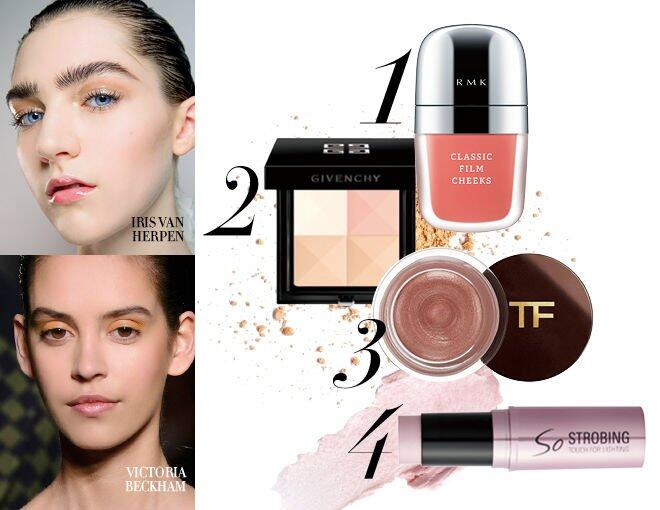 <p> RMK Classic Film Cheeks - Classic Peach #01 $270<br /> Givenchy Prisme Visage #3 $445<br /> Tom Ford Beauty Cream Color For Eyes - Pink Haze $360<br />Banila Co. So Strobing Stick $148</p>