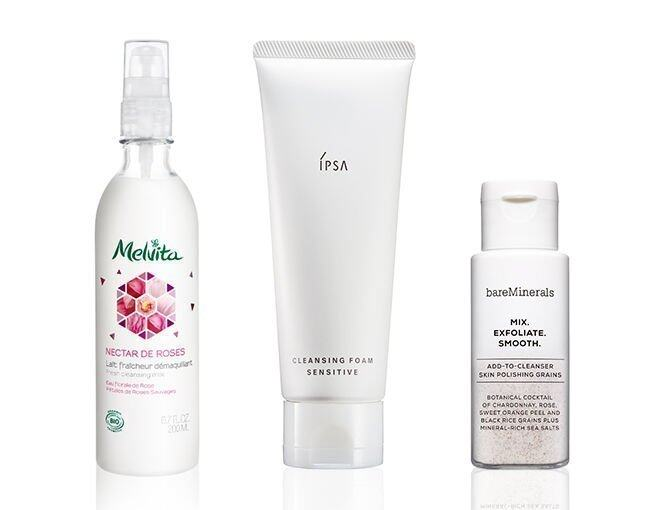 <p> Bare Minerals Mix. Exfoliate. Smooth. HK$190/25g<br /> IPSA Cleansing Foam Sensitive HK$240/125g<br />Nectar de Roses Organic Fresh Cleansing Milk HK$200/200ml</p>