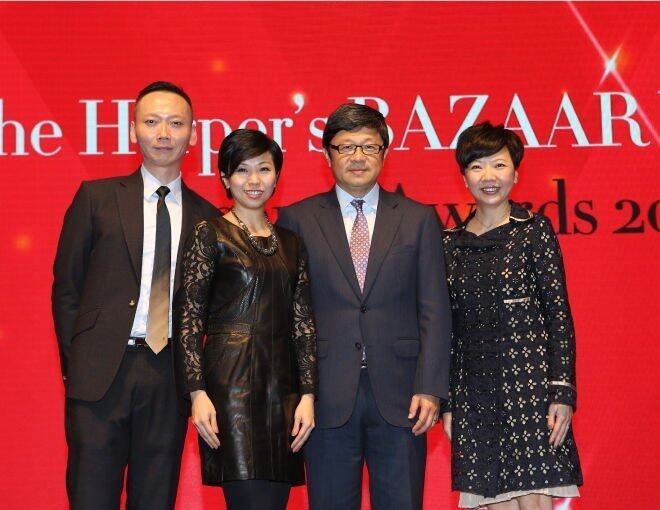 <p>Harper's Bazaar 總編輯 Xaven Mak、出版人Ms  Amy Cheng、SCMP Group 行政總裁 Mr. Robin Hu,以及 SCMP Hearst Publications Limited 董事總經理 Ms. Josephine Chan。</p>