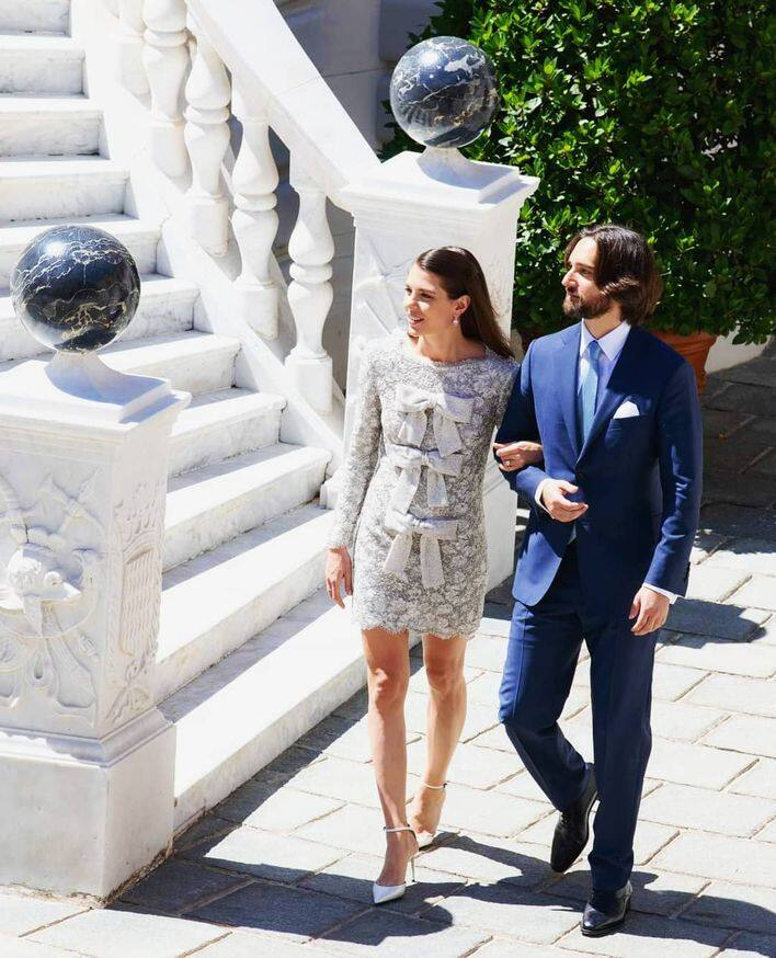 摩納哥皇室 Prince Charlotte Casiraghi and Dimitri Rassam