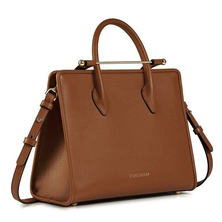 Strathberry The Strathberry Midi Tote - Tan Bridle Leather GBP£525
