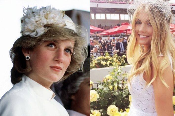 Princess Diana 跟 Kitty Spencer 一樣愛用帽紗