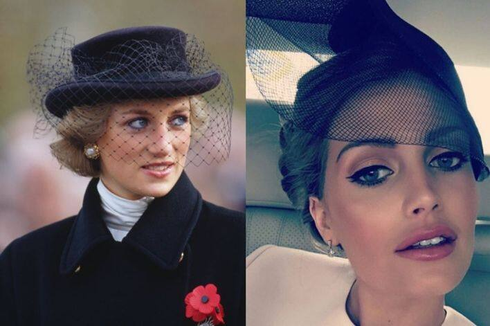 Princess Diana 跟 Kitty Spencer 同樣愛帽紗