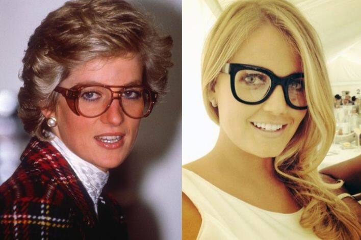 Princess Diana 跟 Kitty Spencer 的相似時刻:眼鏡造型