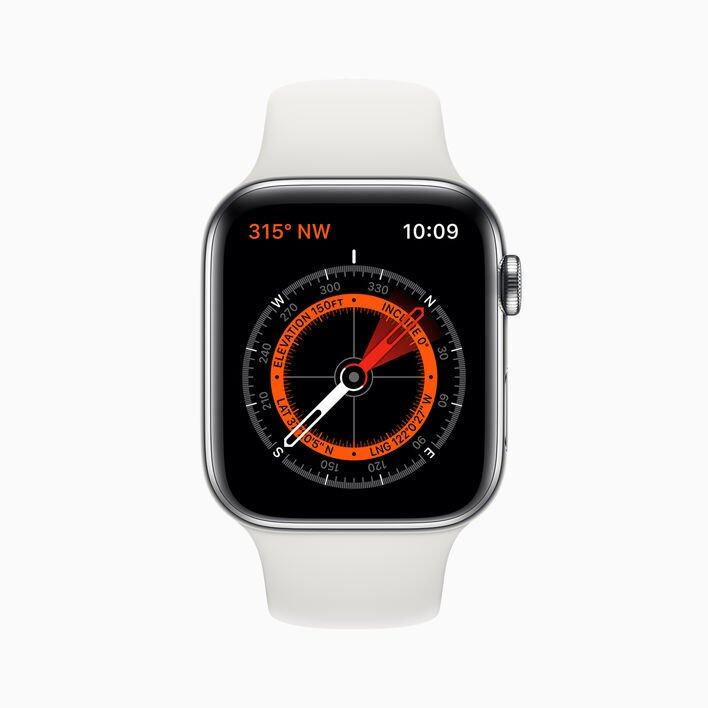 Apple Watch S5 全新定位及指南針功能