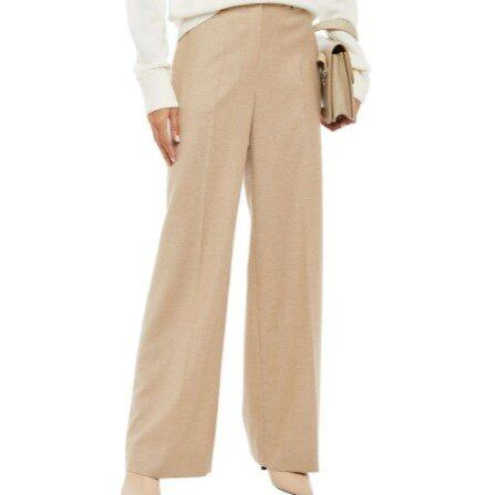 THEORY Wool-flannel wide-leg pants