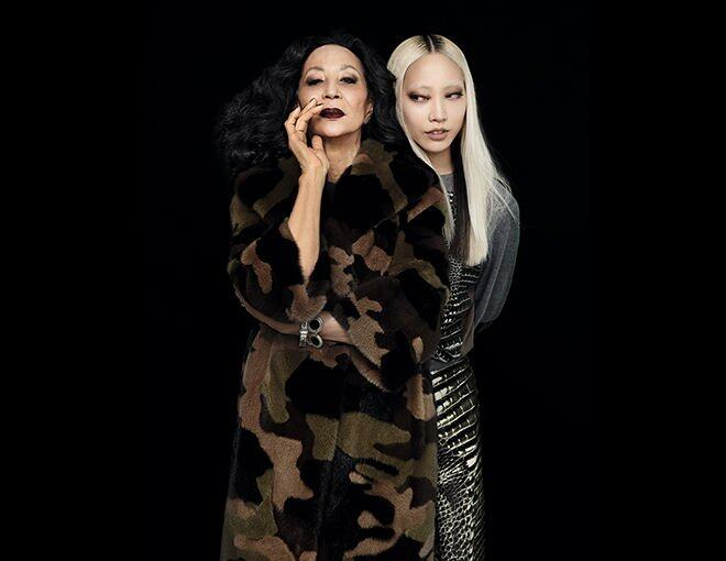 <p>China Machado</p><p>The first Eurasian supermodel, still breaking barriers at age 83.</p><p>Michael Kors上衣及中褸。</p><p> </p><p>Soo Joo Park</p><p>Modeling's blonde Asian, reinventing her look at age 27.</p><p>Reef Krakoff 針織上衣及半截裙。</p>