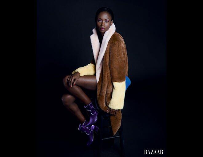 <p>Riley Montana</p><p> Fashion, Celine<br />Céline 外套。Gianvito Rossi 靴。</p>