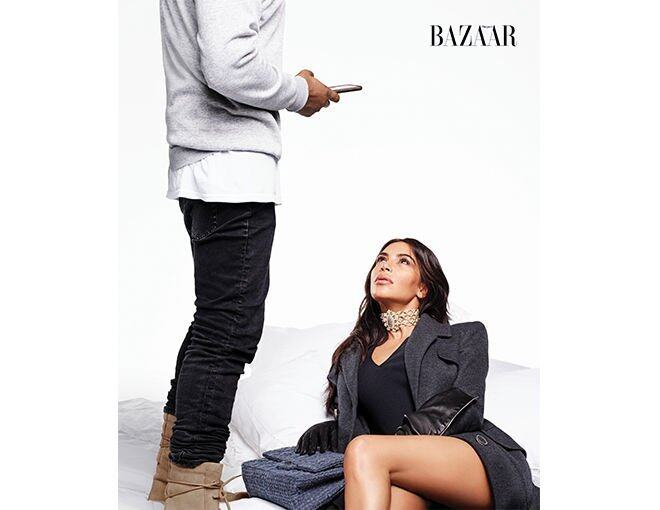 <p> Kim Kardashian West and Kanye West 以多個造型亮相。</p>