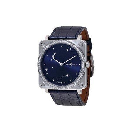 BELL AND ROSS Aviation Midnight Blue Dial Ladies Diamond Watch