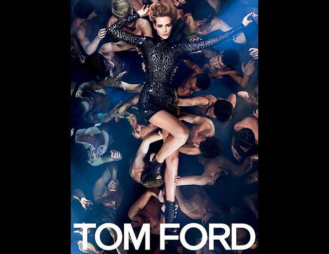 <p>Tom Ford 2014 春夏時裝廣告</p><p> 模特兒:Esther Heesch(featured here)、Conrad Bromfield、Carlos Peters. <br />攝影師:Tom Ford</p><p> </p>
