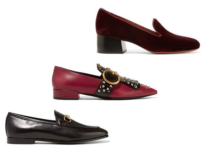 <p> Prada Studded two-tone leather point-toe flats $11,650<br /> Gucci Horsebit-detailed leather loafers $6,100<br /> Chloé Velvet pumps $5,110<br />(All From Net-A-Porter)</p>