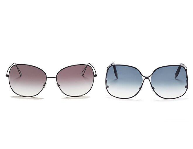 <p>Left: Oliver Peoples X ISABEL MARANT 'DARIA' OVERSIZE WIRE GRADIENT SUNGLASSES HK$3,200</p><p>Right:Victoria Beckham oversized round fram sunglasses HK$4,570</p>