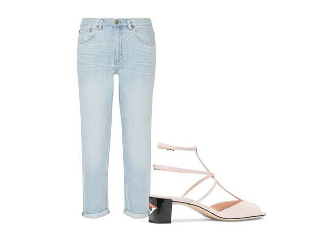 <p> M.i.h Jeans Linda high-rise boyfriend jeans $1,869<br />Fendi Patent-leather sandals $6,100</p><p>From net-a-porter.com​</p>
