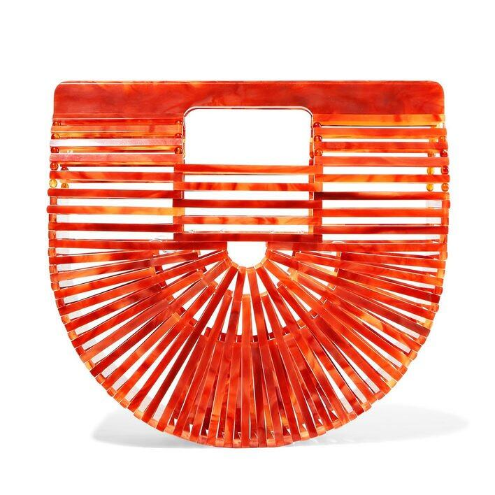 <p>Cult Gaia Ark mini acrylic clutch $2,165</p>