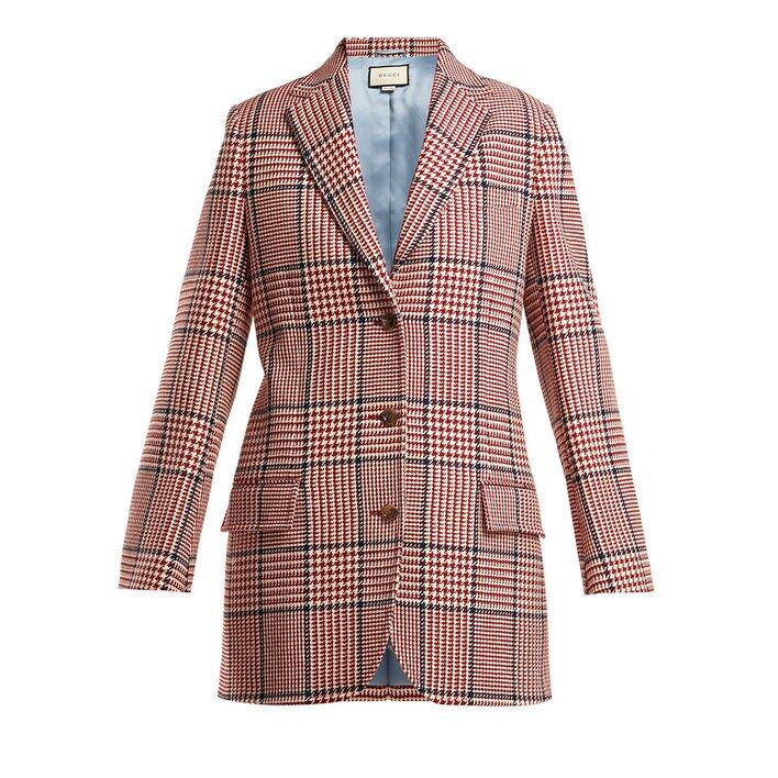 Gucci Houndstooth Wool-blend Blazer $23,900 (MatchesFashion)