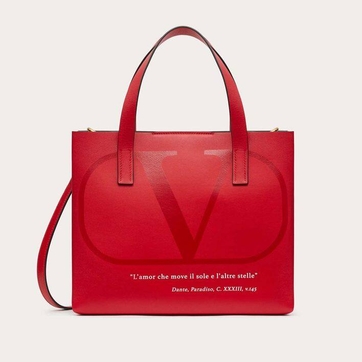 Valentino 'Love Lab' 紅色皮革 Tote Bag $17,100