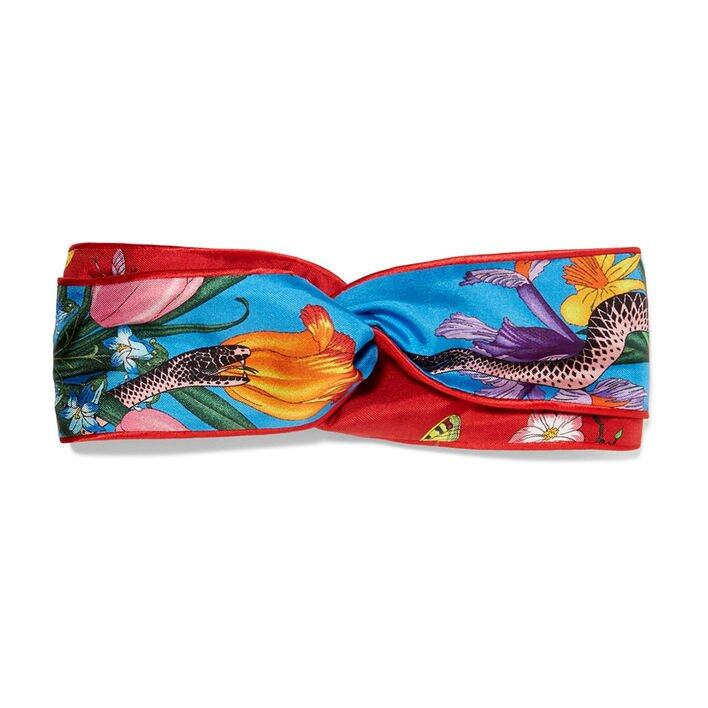 Gucci Printed Silk-twill Headband $2,900 (From Net-a-Porter)