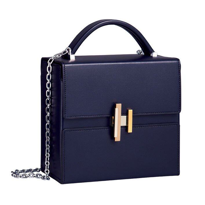 <p class='text-center ' style='text-align:center;'><b>Hermes 藍色 Cinhetic 方型手袋</b></p>