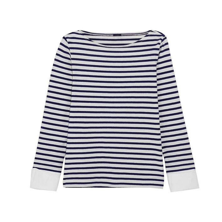 <p class='text-center ' style='text-align:center;'>J.Crew Striped cotton top $585</p>