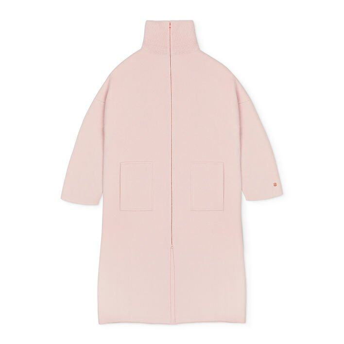 Movers & Cashmere The Movers Cashmere Coat (Dusty Pink) $1,633
