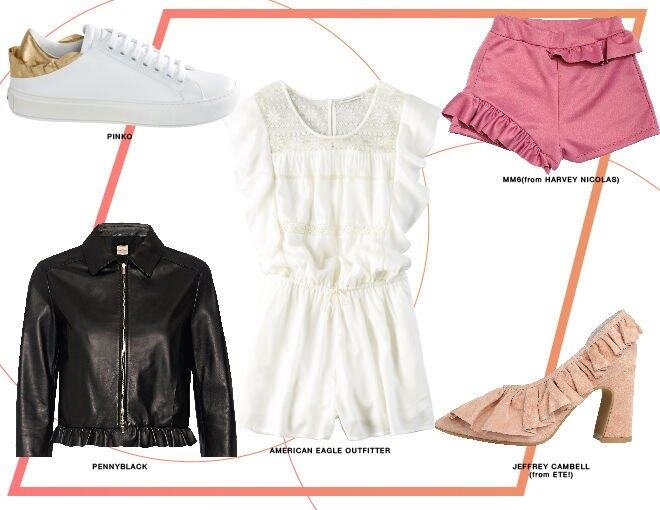 <p> 左上:Pinko<br /> 左下:Pennyblack<br /> 中間:American Eagle Outfitter<br /> 右上:MMS (from Harvey Nichols)<br />右下:Jeffrey Cambell (from ETE!)</p>