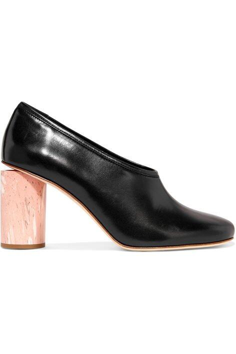 <p class='text-center ' style='text-align:center;'>Acne Studios Amy Leather Pumps $4,500</p>