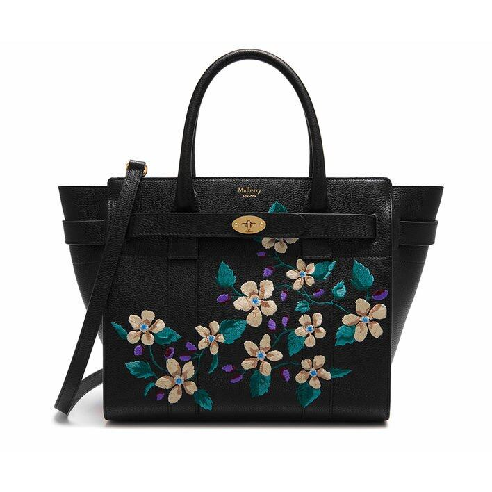 Mulberry Small Zipped Bayswater Flower