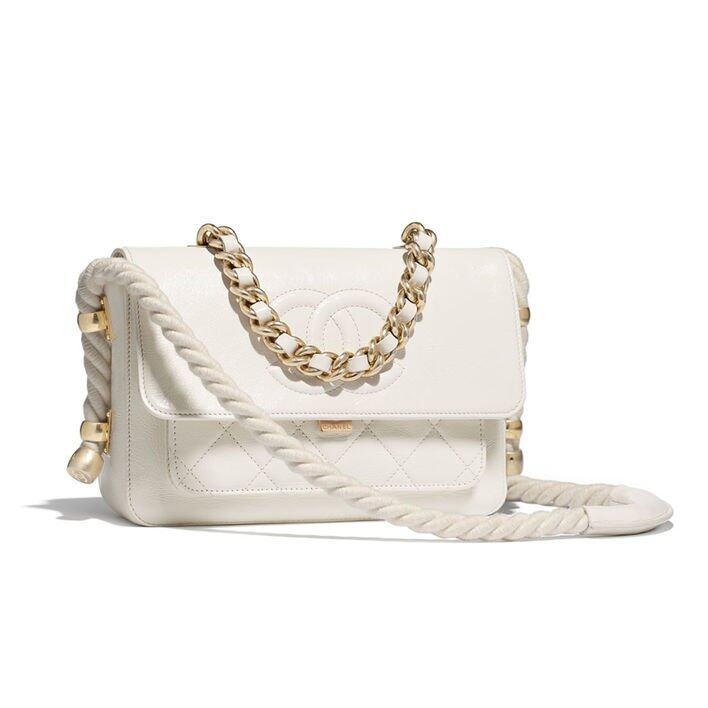Chanel Flap Bag 白色手袋 $34,500