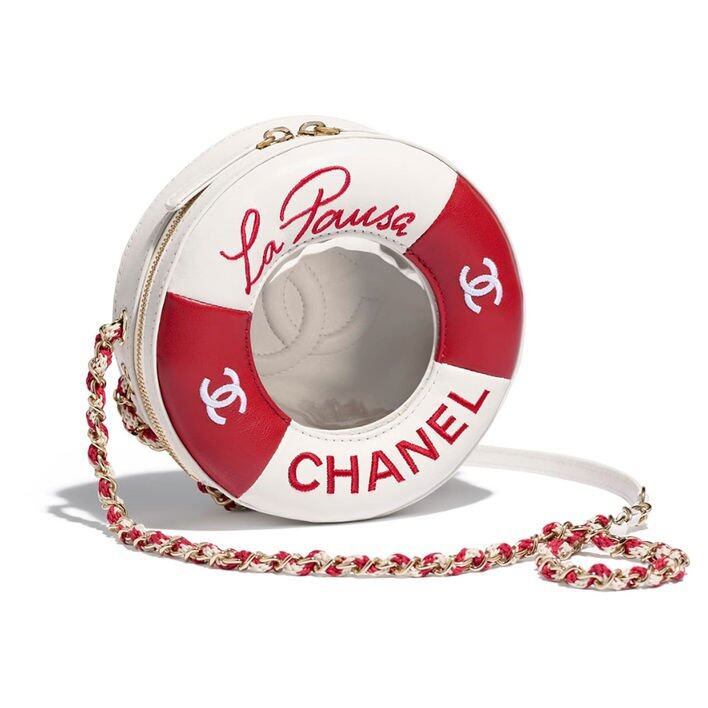 Chanel Small Round Bag 紅白水泡造型手袋 $29,400