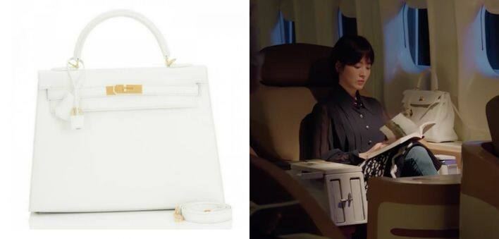 白色 Hermès Kelly bag