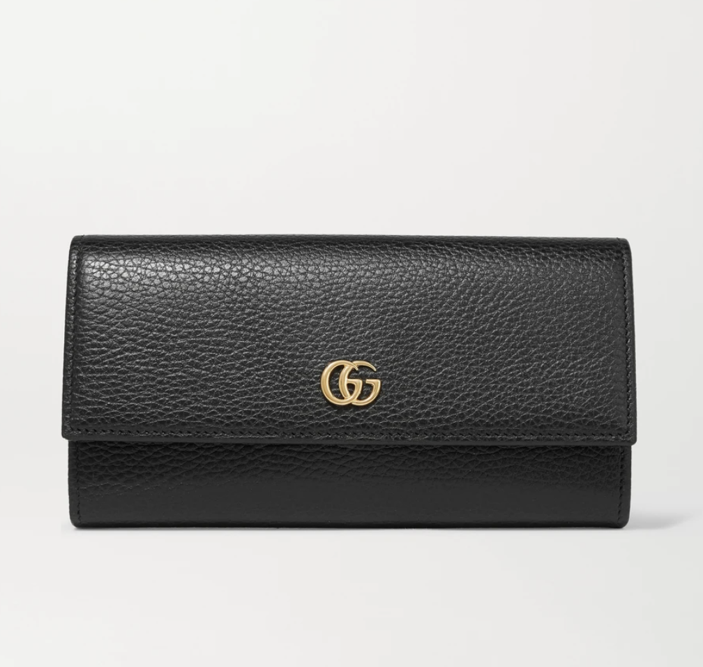 GUCCI + NET SUSTAIN textured-leather continental wallet
