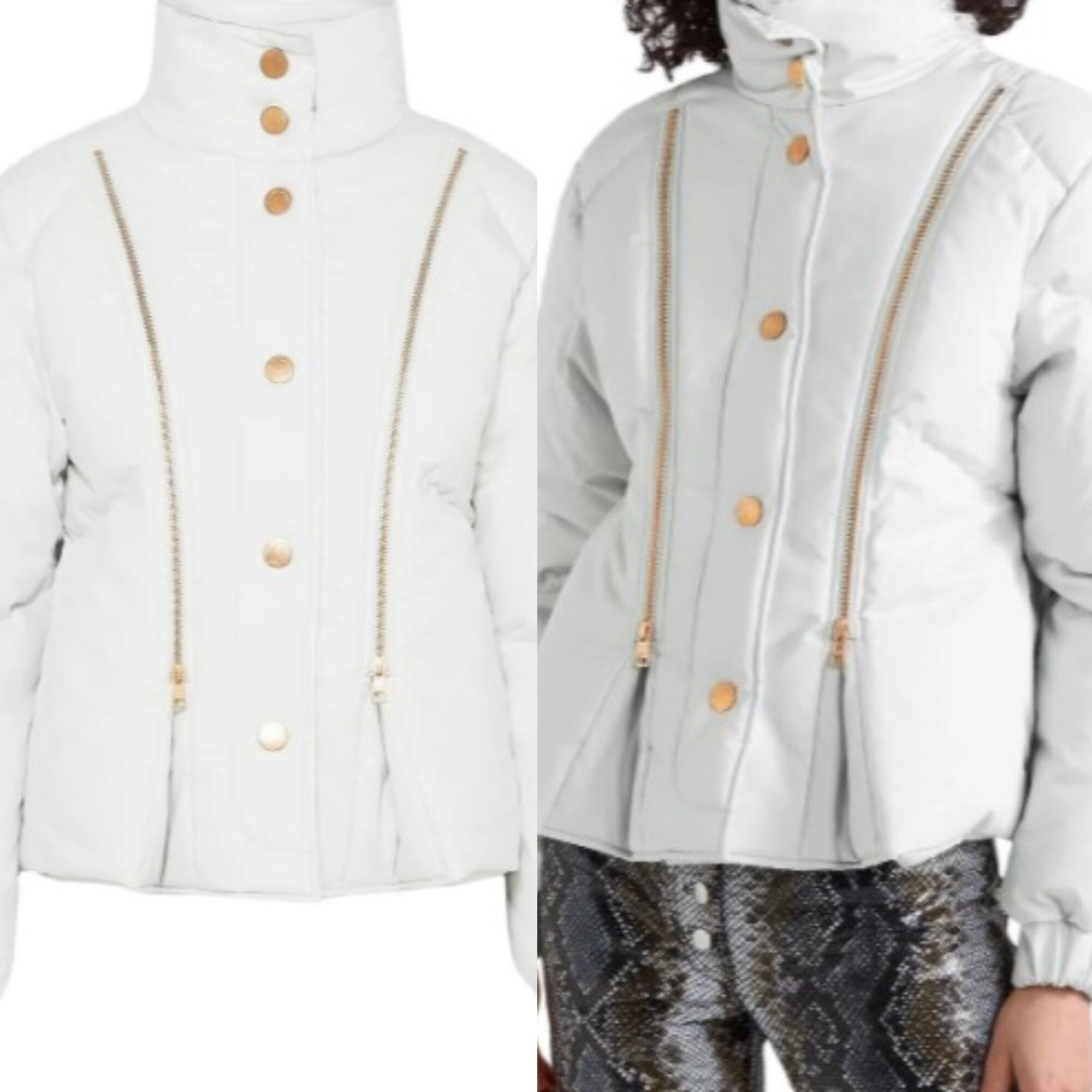 SEE BY CHLOÉ Zip-detailed quilted cotton-shell jacket
