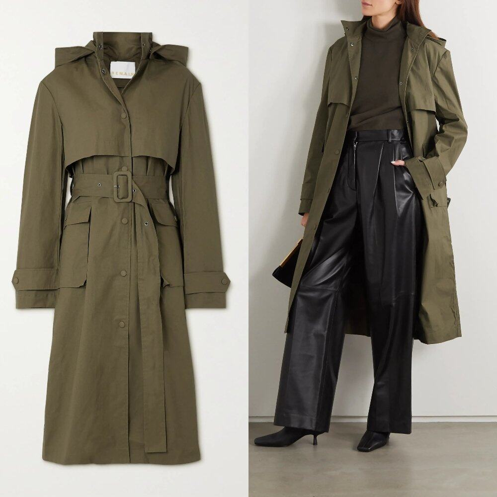 REMAIN BIRGER CHRISTENSEN Corinne hooded organic cotton trench coat