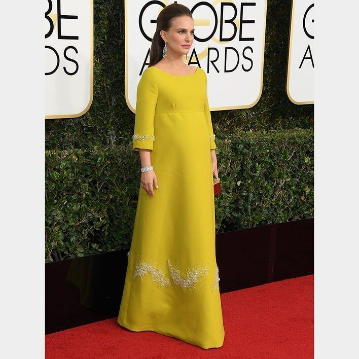 Natalie Portman BEST DRESSED ON THE GOLDEN GLOBES RED CARPET