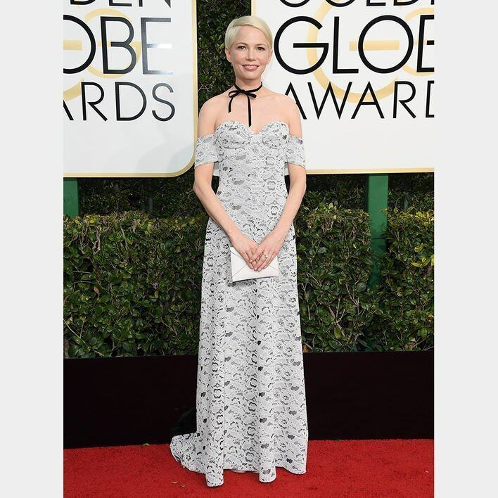 Michelle Williams BEST DRESSED ON THE GOLDEN GLOBES RED CARPET