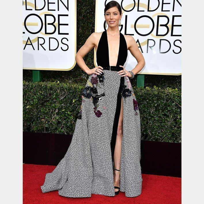Jessica Biel BEST DRESSED ON THE GOLDEN GLOBES RED CARPET