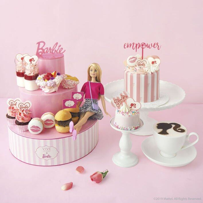Vive Cake Boutique 合作推出以 Barbie 為靈感創作的甜點